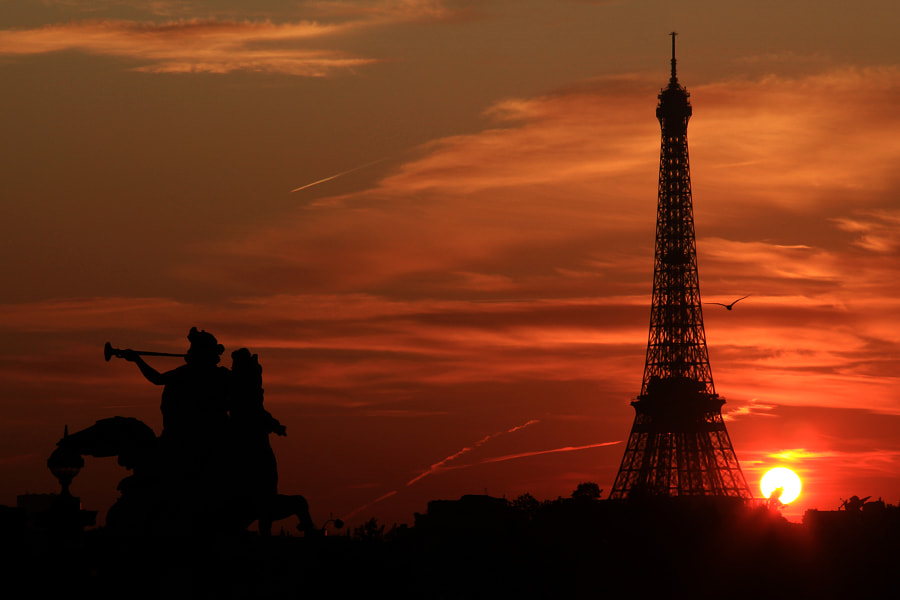 Paris at sunset by Jacky CW on 500px.com