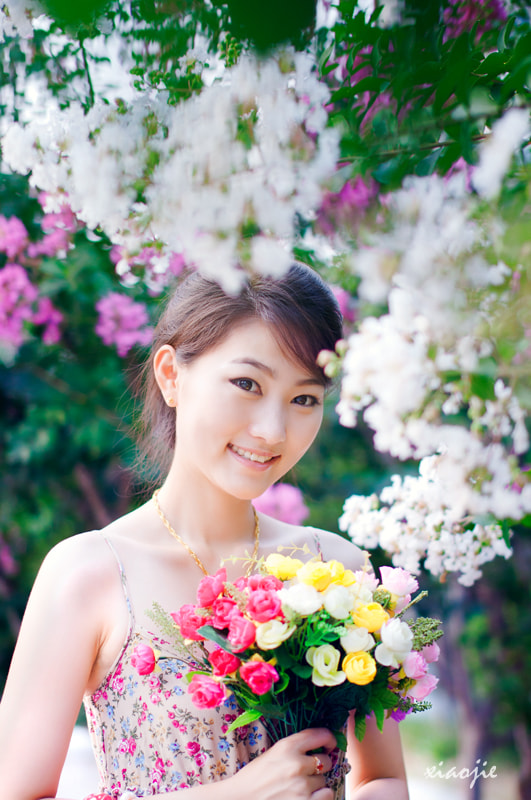 Photograph Flower girl by jie xiao on 500px