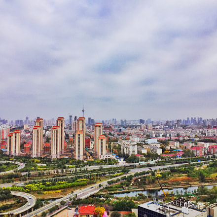 tianjin tower in distance