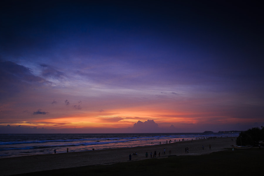 Sundown on Ventura Beach, Bentota, Sri Lanka by Son of the Morning Light on 500px.com