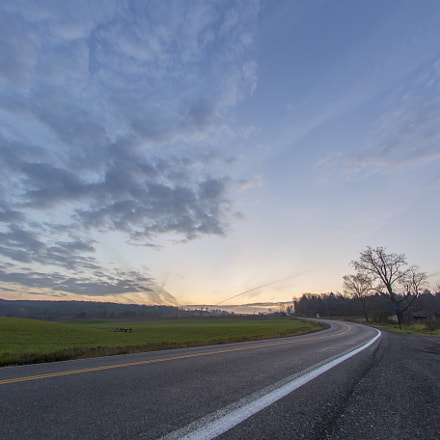 BEnd in the road, Canon EOS 6D, Sigma 15mm f/2.8 EX Fisheye