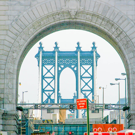 Manhattan Bridge From NYC, Canon EOS 30D, Canon EF 55-200mm f/4.5-5.6