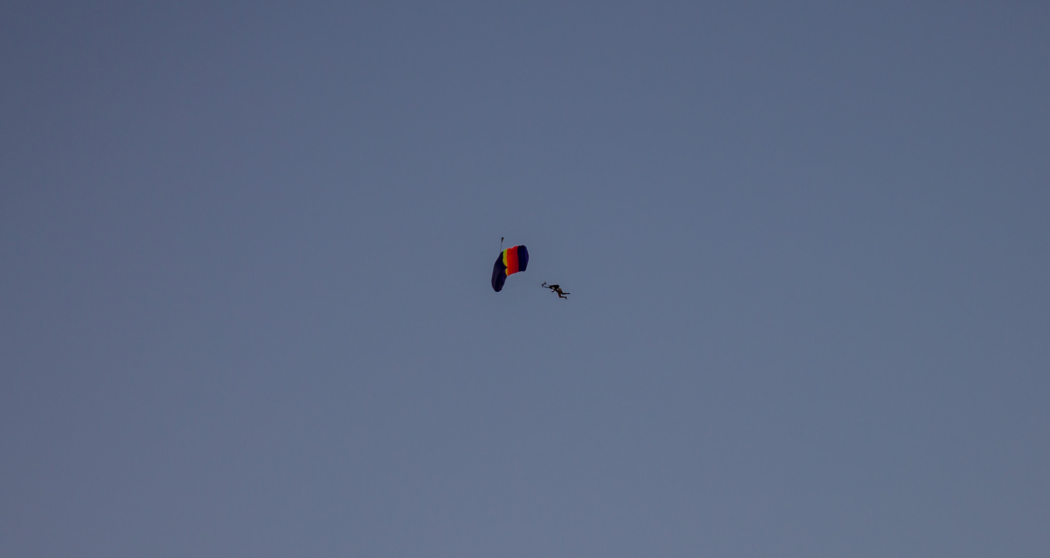 Photograph Parachutist in blue sky by Fedor Petrovskiy on 500px