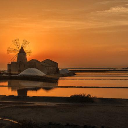Salt sunset at Marsala
