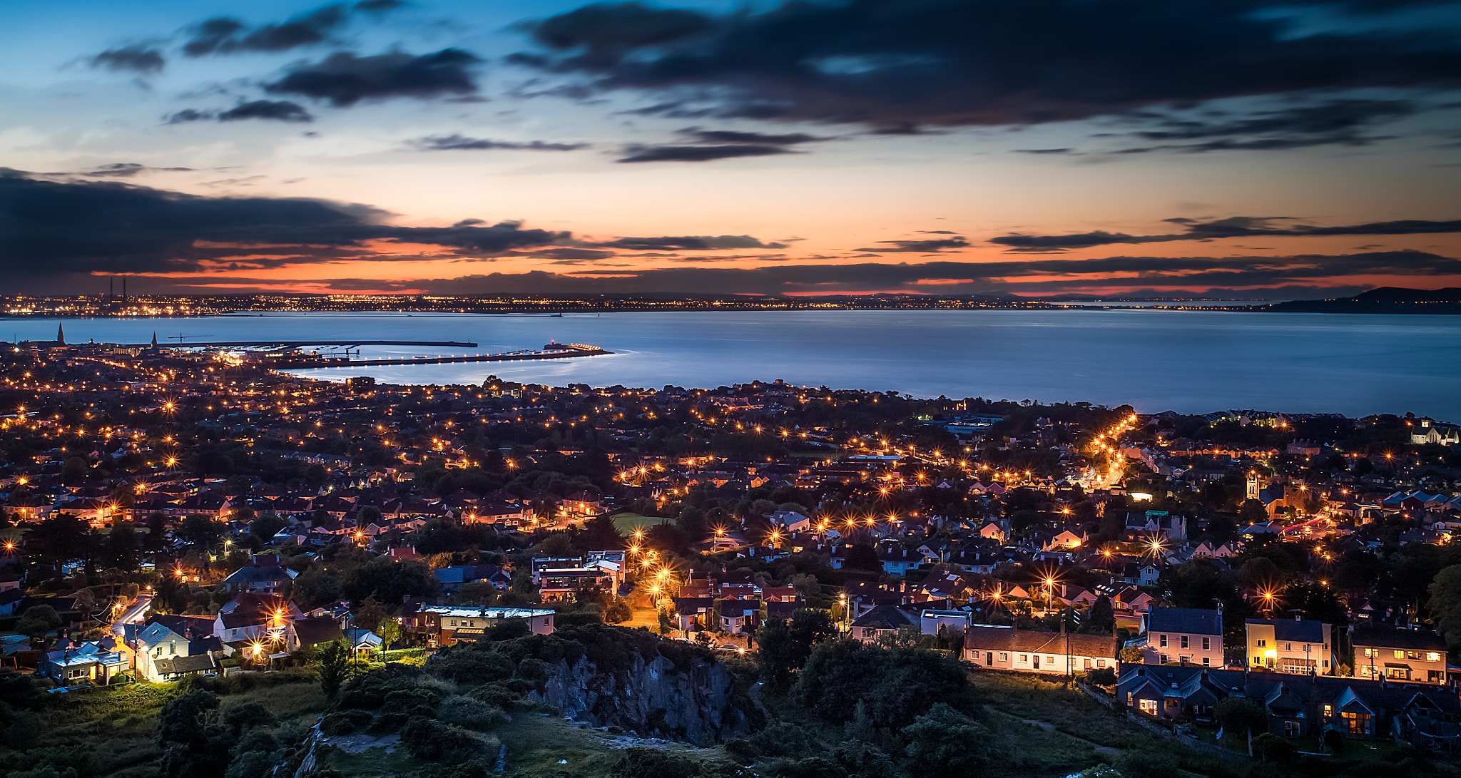 Photograph Dún Laoghaire Nightscape by Lukas Larsed on 500px