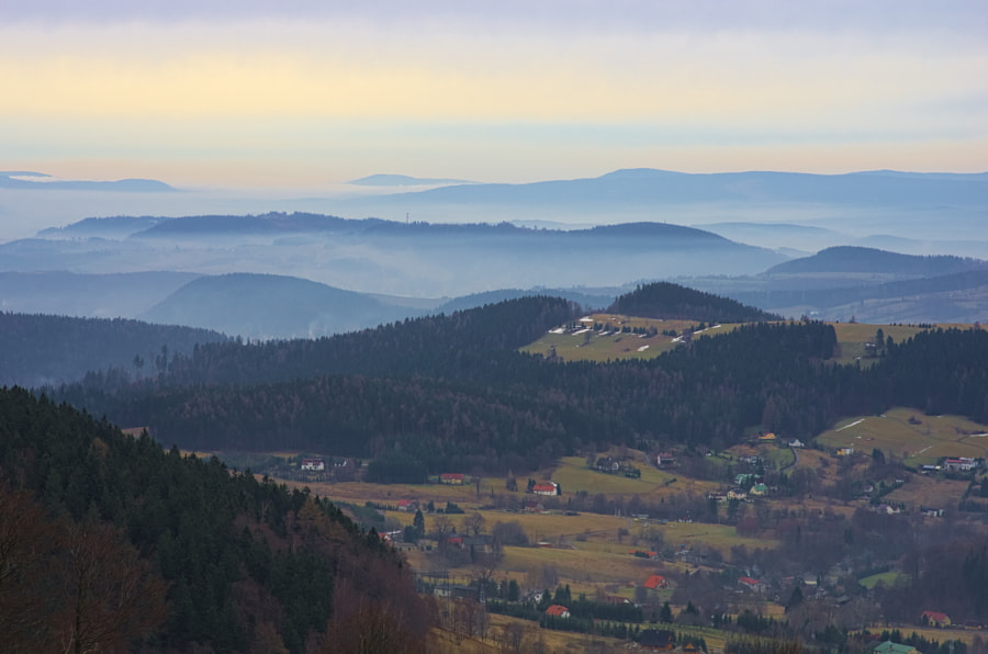 Layers in Owl Mountains and Sudetes by Aleksander Kwiatkowski on 500px.com