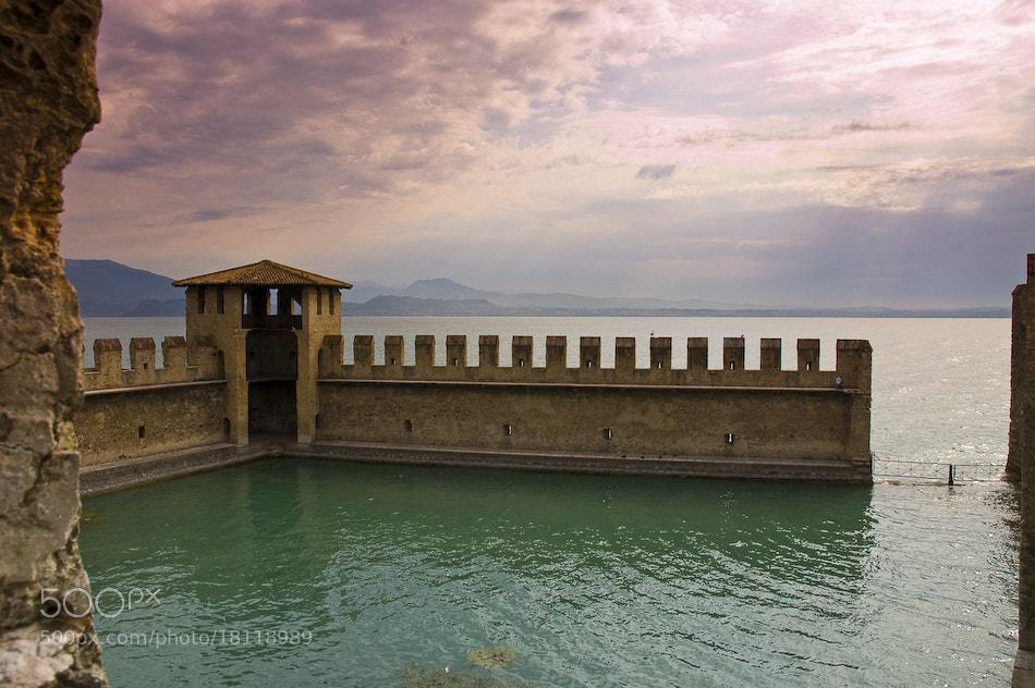 Photograph Tramonto sul castello di Sirmione by Stefano Boschi on 500px