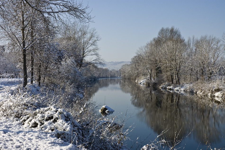 Photograph Snow on the river by Stefano Boschi on 500px