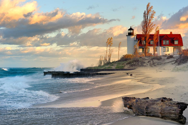 "Photograph ""Lighthouse Dawn"" Point Betsie Lighthouse, Lake Michigan  by John McCormick on 500px"