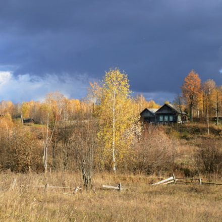 House in autumn., Nikon D60, AF-S Zoom-Nikkor 24-85mm f/3.5-4.5G IF-ED