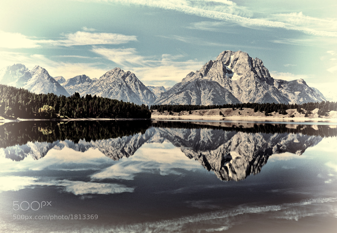 Photograph Vintage Jackson Lake Reflection by Jeff Clow on 500px