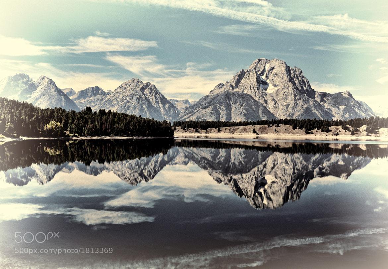 Photograph Vintage Jackson Lake Reflection by Jeff Clow on 500px
