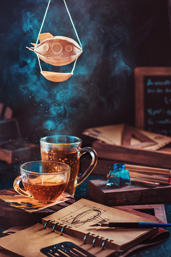 Steampunk tea (with a blimp) by Dina Belenko on 500px.com