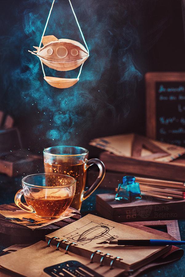 Steampunk tea (with a blimp) by Dina Belenko on 500px.com