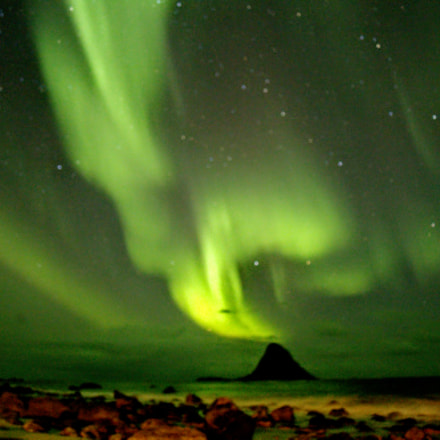 Northern light above Bleiks, Canon EOS 6D, Canon EF 28-80mm f/3.5-5.6 USM