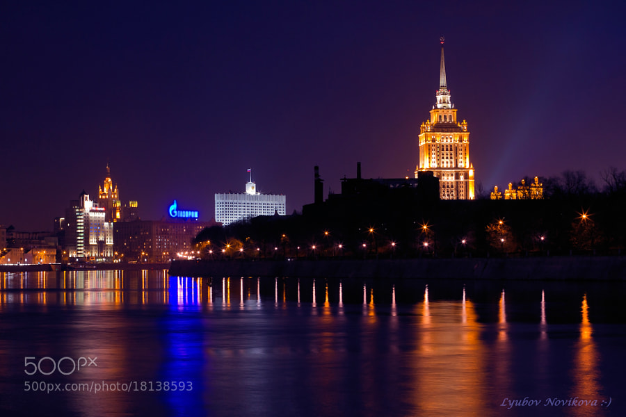 Photograph Evening on the embankment of the Moscow River. by Lyubov Novikova on 500px