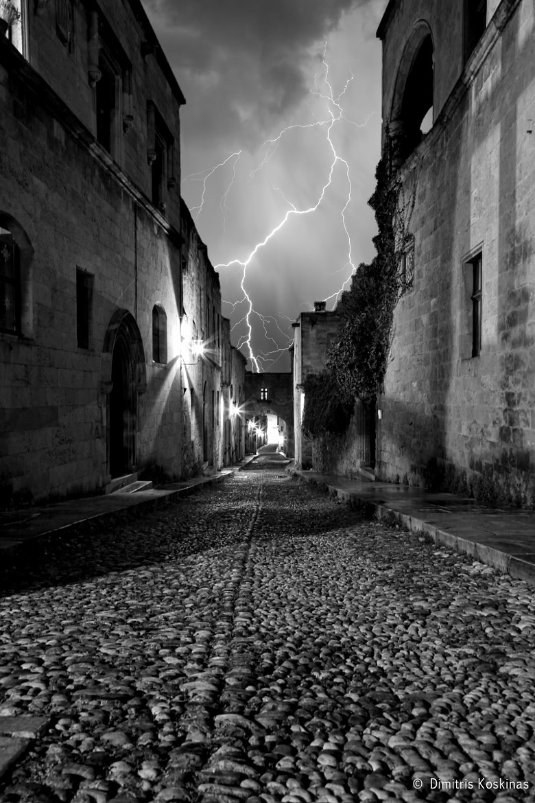 Photograph Thunderstorm at the street of the knights by Dimitris Koskinas on 500px