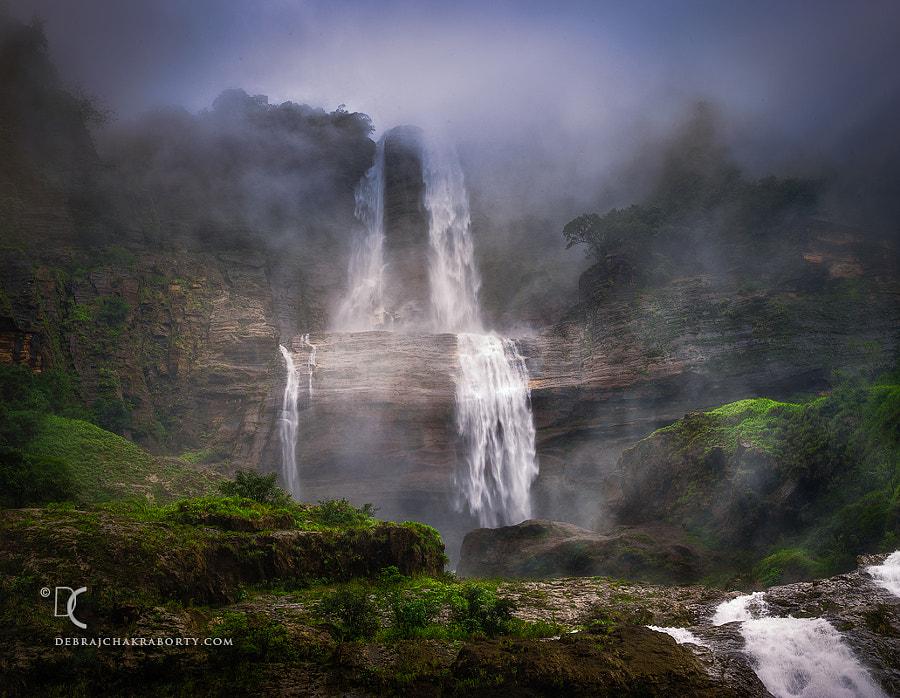 Kynrem falls Cherrapunji