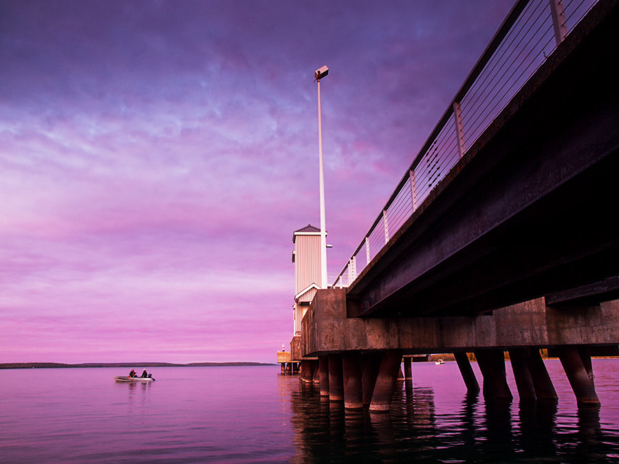 Photograph Pier into Purple by Peter Baumgarten on 500px