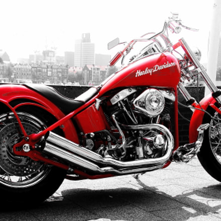 Red Harley, Canon EOS 400D DIGITAL, Canon EF 28-105mm f/4-5.6