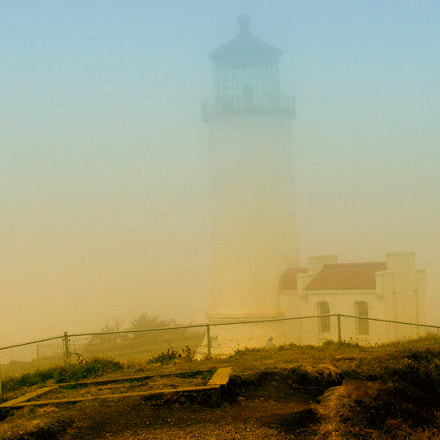 Lighthouse in the fog, Fujifilm FinePix S5100