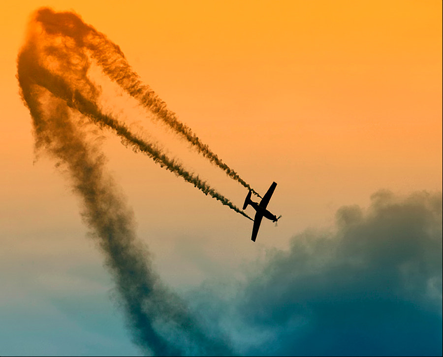 Aerobatics at it's best. Shot taken five years ago during an airshow on a small field called Eelde near my hometown Groningen in the Netherlands.