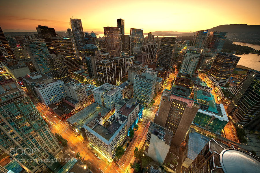 Photograph Downtown Vancouver Sunset by Magnus Larsson on 500px