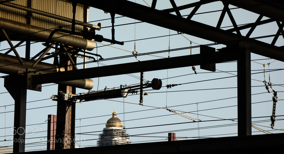 Photograph Court House behind train lines by Thierry Hudsyn on 500px