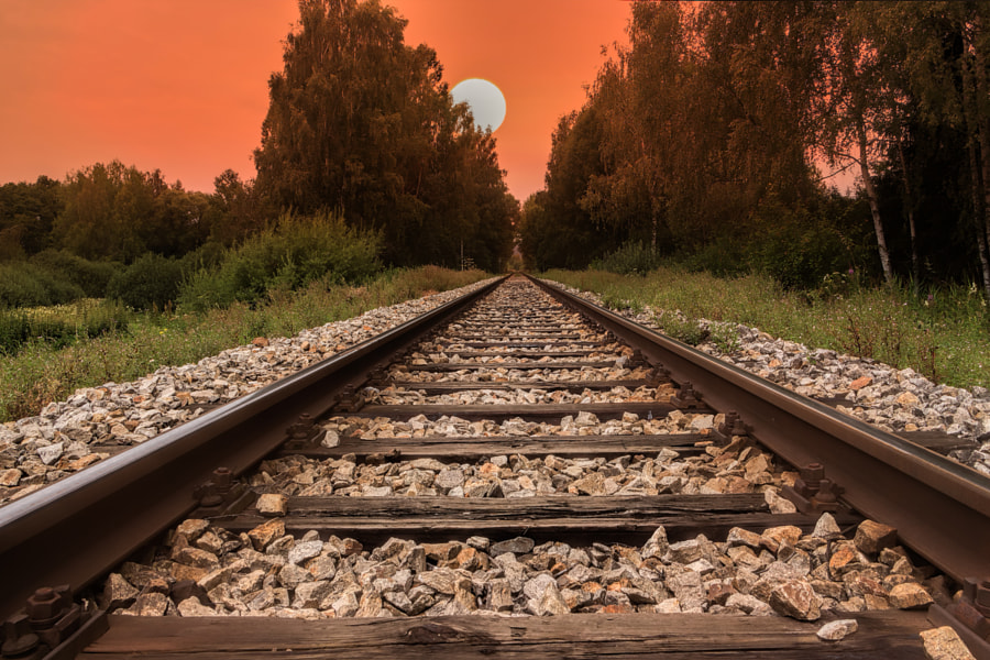 Railway line by Jan Fidler on 500px.com