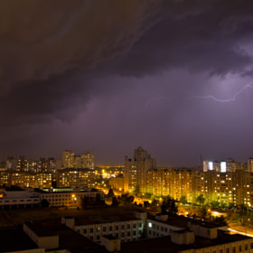 Lightning at night sky by Fedor Petrovskiy (FedorPetrovskiy)) on 500px.com