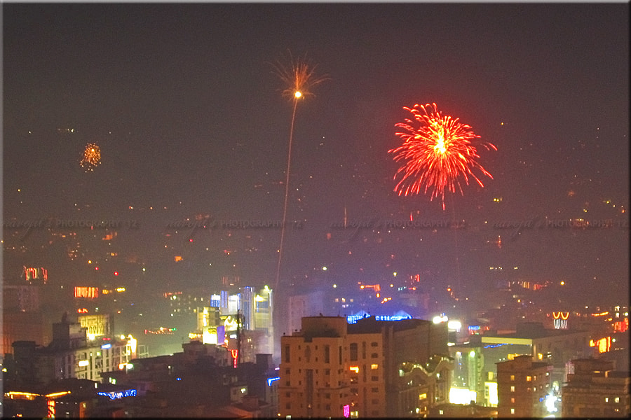 Photograph An Another Diwali Fireworks Shot From GMCH Hill, Guwahati, Assam...!! by Navojit Bhuyan on 500px