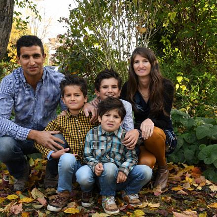 Said Ibrahimi met zijn gezin