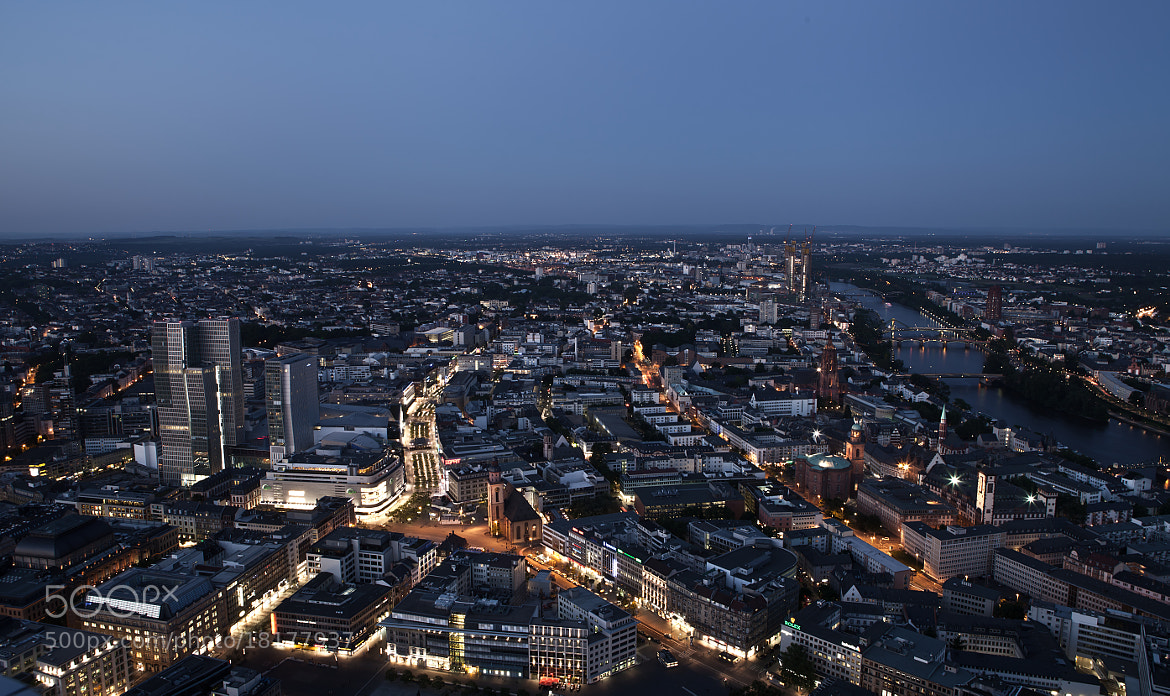 Photograph Frankfurt's Blue Hour by Thorsten Jung on 500px