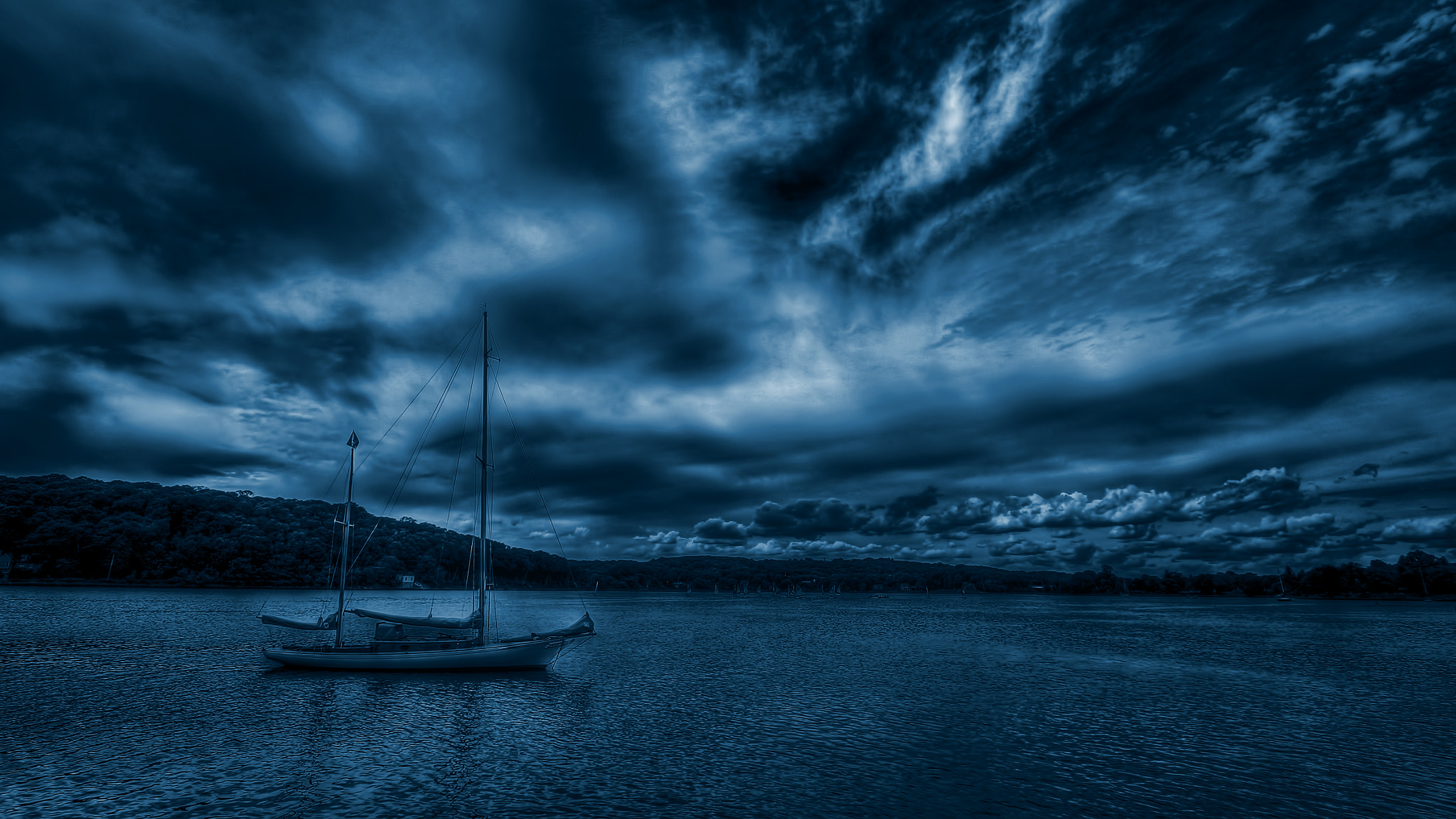 Photograph A Boat on Blue Bay by Omar Sanders on 500px