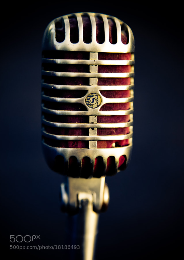 Photograph Dad's old Microphone - Color by Marie-Catherine O'Malley on 500px