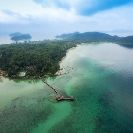 Aerial view of Koh Mak Island