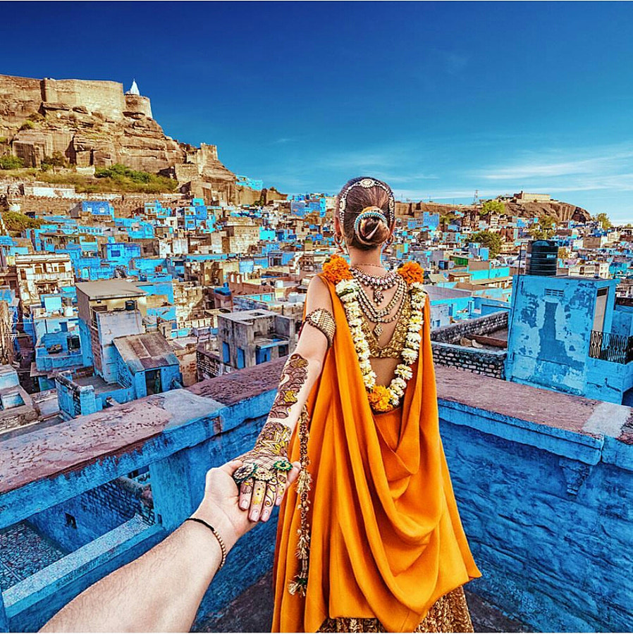 Follow Me To The Blue City Of Jaipur by Murad Osmann on 500px.com
