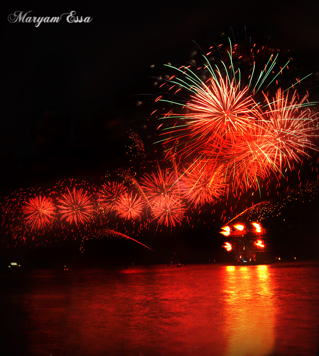 Photograph Red fireworks by Maryam Essa on 500px