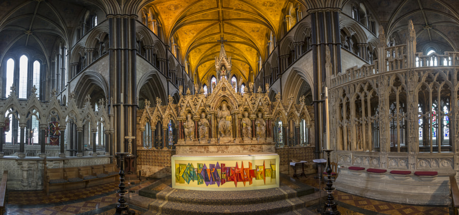 Worcester Cathedral interior panorama