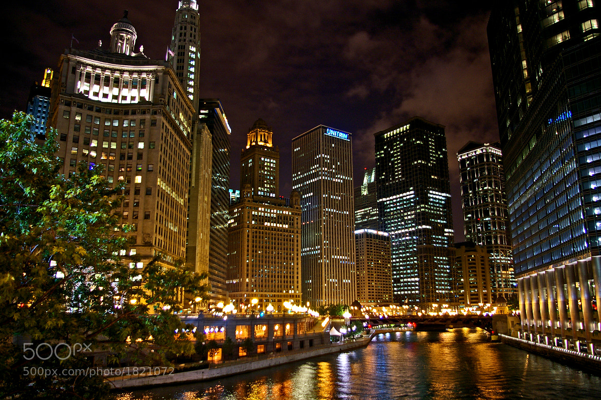 Photograph Chicago River at Night by Jay B. Wilson on 500px