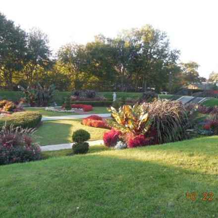 Sunken garden view