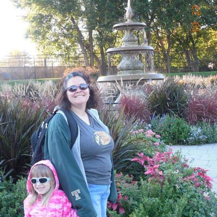 Near the fountain