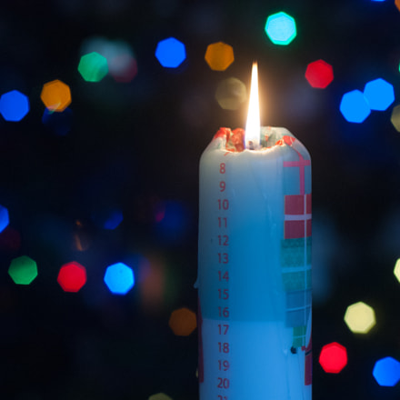 Advent Candle, Nikon D200, AF Nikkor 50mm f/1.8 N