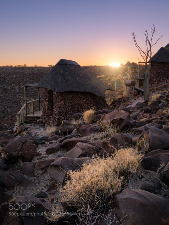 Grootberg Lodge at sunset