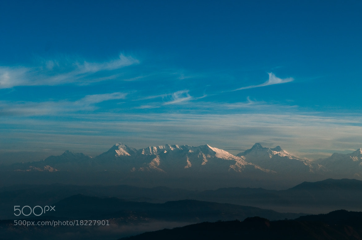 Photograph Blue mountains - first light of the day by pushkar raj sharma on 500px
