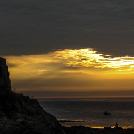 Sunset / Guernsey, Channel Islands, Canon POWERSHOT S2 IS