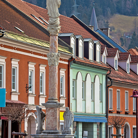 Town of Bad sankt Leonhard im Lavanttal colorful streetscape