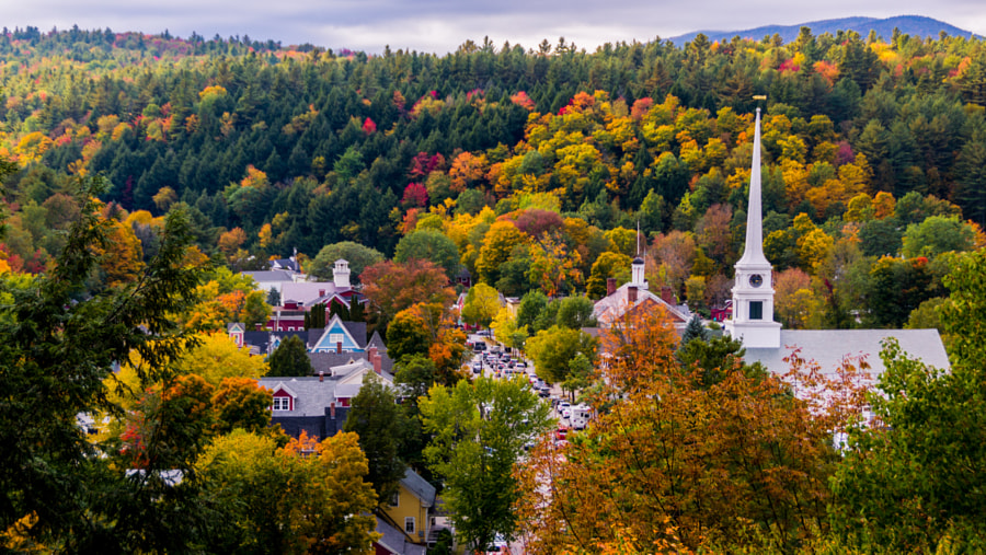 Fall foliage in Stowe Vermont by scenicvermontphotography on 500px.com