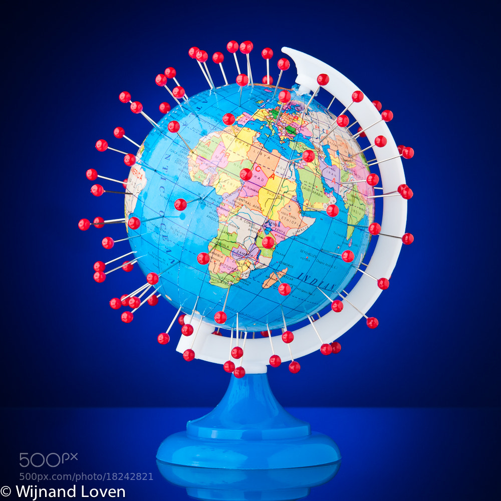 Photograph Pinpointed globe by Wijnand Loven on 500px