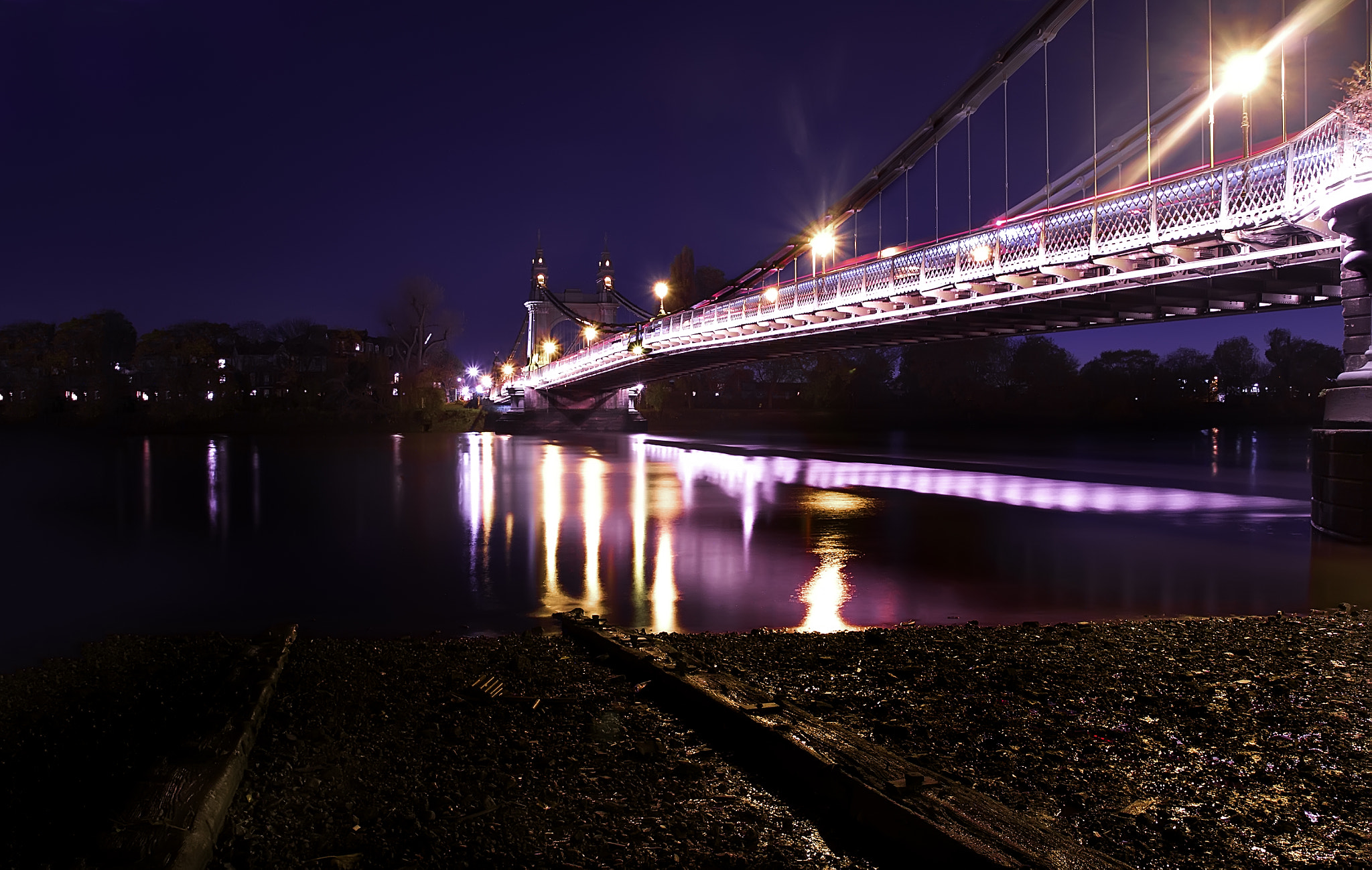 Photograph Hammersmith Bridge Blue by Chris Maskell on 500px